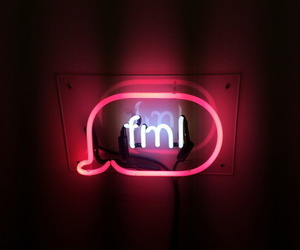 fml, neon, and light image