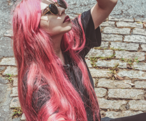 colored hair, long hair, and model image
