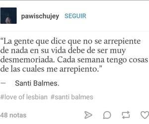 poeta, love of lesbian, and santi balmes image