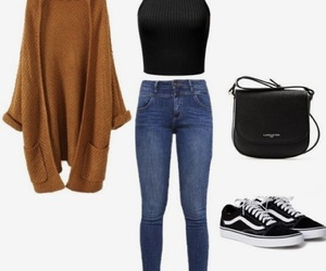 cardigan, fashion, and vans image