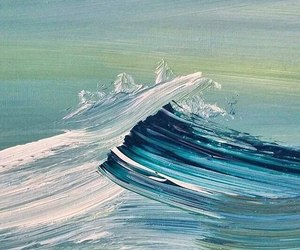waves, art, and blue image