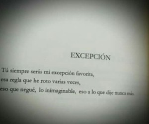 amor, frase, and excepcion image
