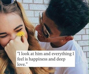 happiness, her, and him image
