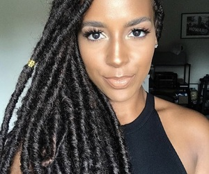 hairstyle and faux locs image