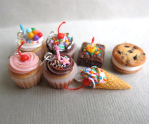 brownie, charms, and cupcake image