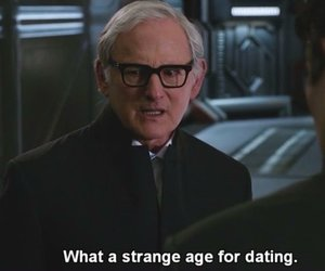 age, strange, and text image