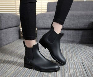 black boots, boots, and girly image