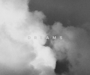 black and white, clouds, and Dream image