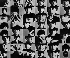 60's, b&w, and beatles image