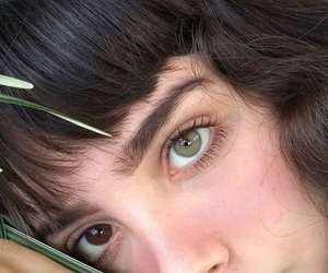 girl, eyes, and green image