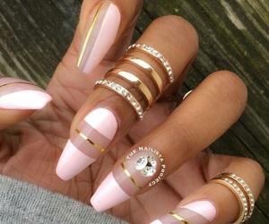 baby pink, acrylic nails, and pastel pink image