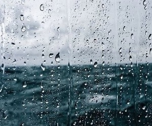 rain and sea image