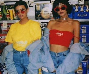 90s, vintage, and red image