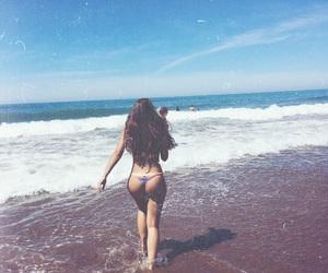 beach, girl, and mar image