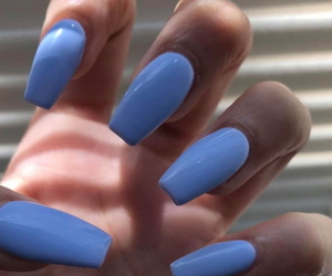 blue, follow, and nails image