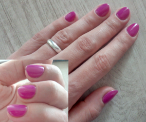 fuxia, manicure, and gel nails image