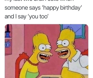 funny, meme, and simpsons image