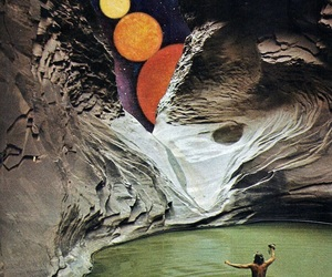 art, space, and Collage image
