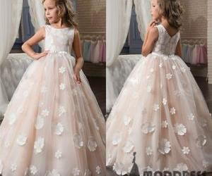 tulle and flower girl dress image