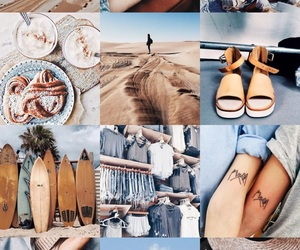 aesthetic, blue and tan, and blue and tan theme image