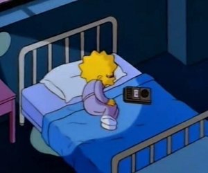 sad, simpsons, and lisa image