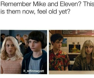 stranger things, mike and eleven, and teotfw image