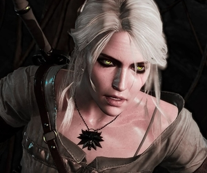 green eyes and ciri image