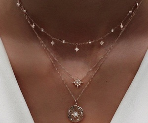 diamond, necklace, and girl image
