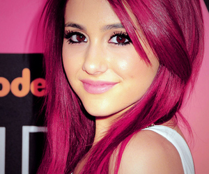 ariana grande, hair, and pink image