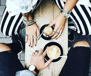 cafe, صديقي, and coffee image