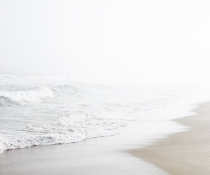 beach, photography, and white image