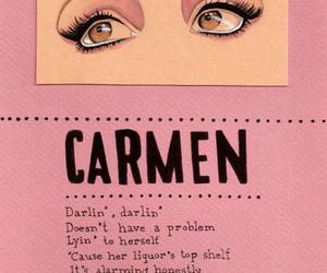 Carmen, lana del rey, and pink image