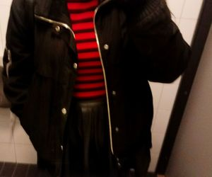black, black and red, and clothes image