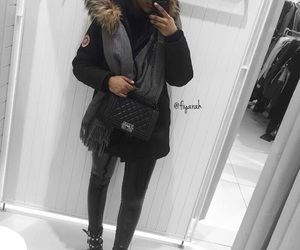 canada goose, outfit clothes, and winter hiver image