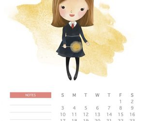 calendario, ginny weasley, and harry potter image