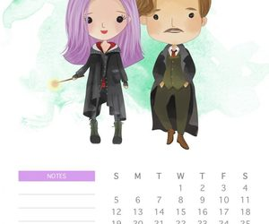 August, calendario, and harry potter image