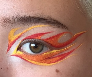 makeup, fire, and aesthetic image