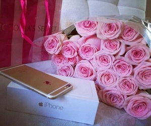 rose, iphone, and pink image