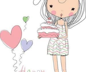 baloon, birthday, and cake image