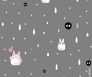 wallpaper, background, and totoro image