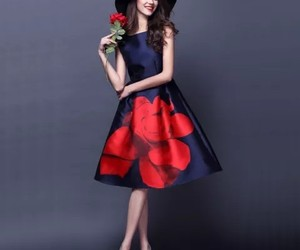 dresses, flowerprint, and party image