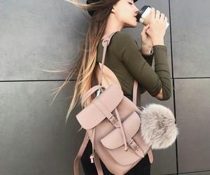 bag, coffee, and pink image