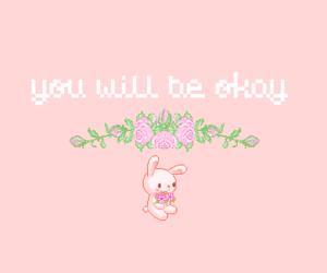 pink, kawaii, and bunny image