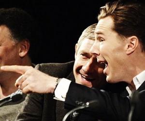 Martin Freeman, benedict cumberbatch, and sherlock image