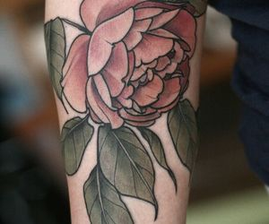 red roses, tatoo, and roses image