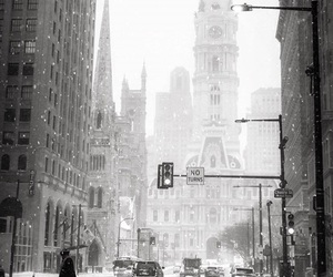 city, pennsylvania, and snow image