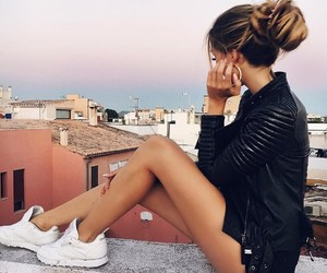 city life, great view, and fashion image
