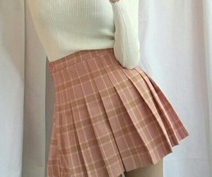 pink, skirt, and aesthetic image