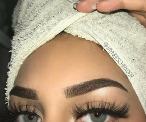 beauty, blue eyes, and eyebrows image