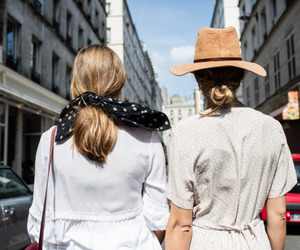 fashion, blonde, and city image